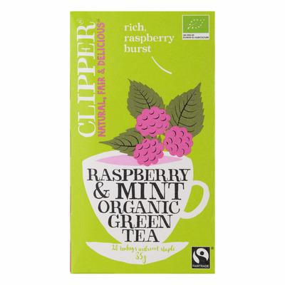 Clipper Organic green tea raspberry-mint 1-kops