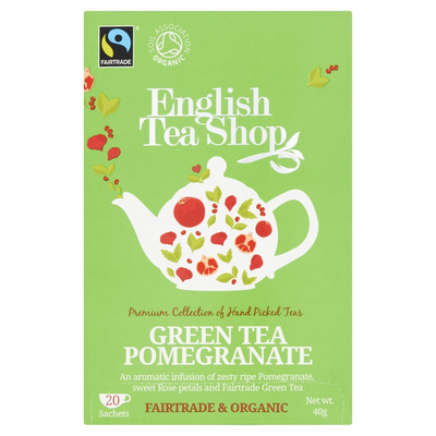 English Tea Shop Green Tea Pomegranate 20 Stuks 40 g