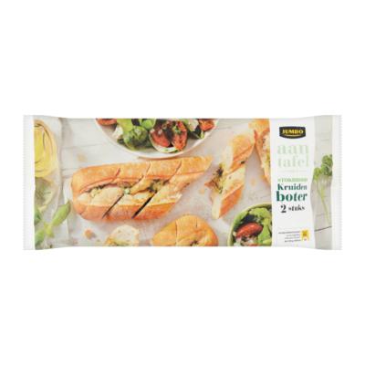 Huismerk aan Tafel met Stokbrood Kruidenboter