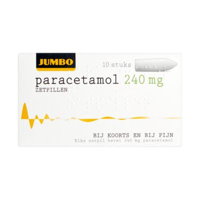 Huismerk Paracetamol Zetpillen 240 mg