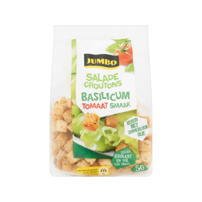 Jumbo Saladecroutons Basilicum Tomaat Smaak