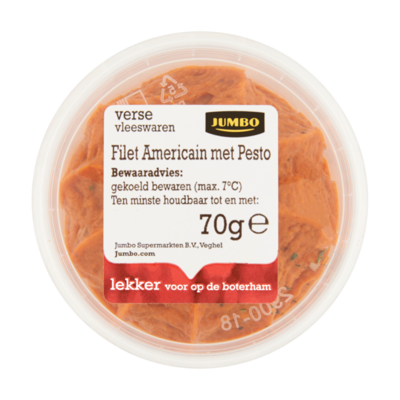 Huismerk Verse Vleeswaren Filet Americain met Pesto