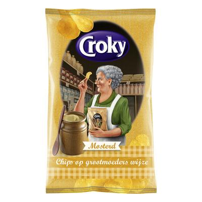 Croky Chips op grootmoeders wijze mosterd