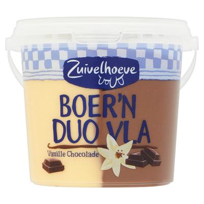 Zuivelhoeve Boer'n Duo Vla Vanille Chocolade 450 g