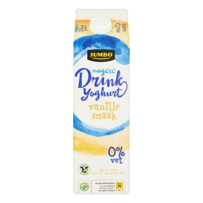 Jumbo Magere Drink Yoghurt Vanille Smaak 0% Vet