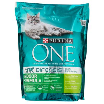 Purina One Kattenvoer indoor formula kalkoen & volkoren granen