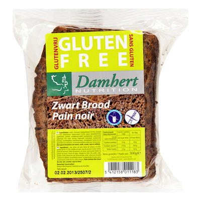 Damhert Glutenvrij zwart brood