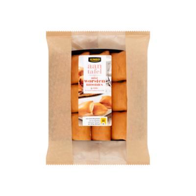 Huismerk aan Tafel met Mini Worstenbroodjes