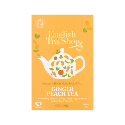 English Tea Shop Ginger Peach Tea 20 Stuks