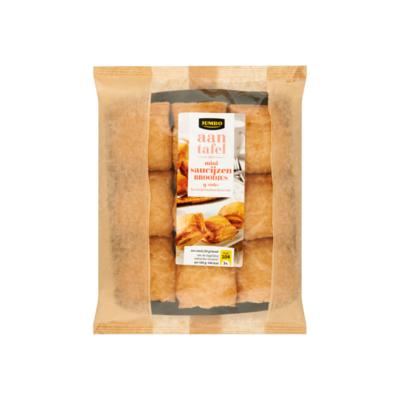 Huismerk aan Tafel met Mini Saucijzen Broodjes