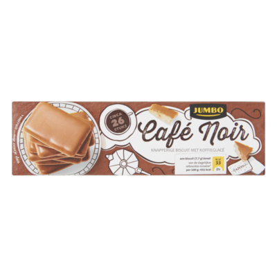 Jumbo Café Noir Knapperige Biscuit met Koffieglacé