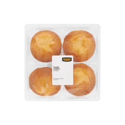 Jumbo Vanille Muffins 4 Stuks