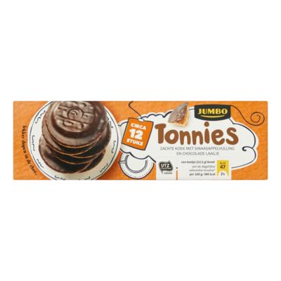 Huismerk Tonnies Zachte Koek met Sinaasappelvulling en Chocolade Laagje Circa 12 Stuks
