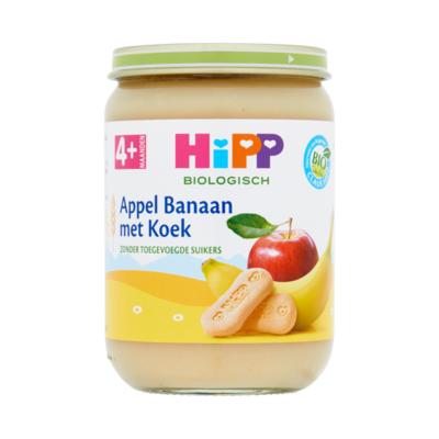 HiPP Biologisch Appel Banaan met Koek 4+ Maanden