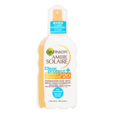 Garnier Ambre Solaire Clear Protect+ Transparante Body Spray Midden SPF