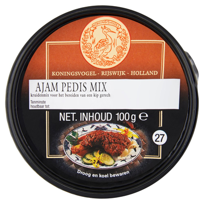 Koningsvogel Ajam Pedis Mix 100 g