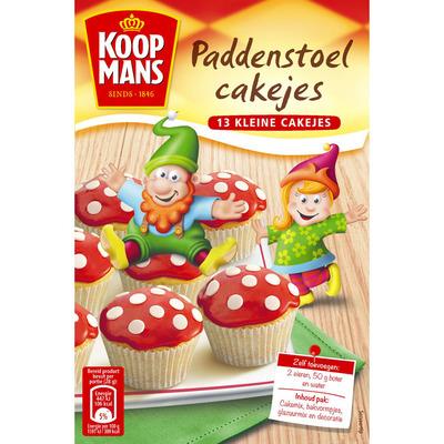 Koopmans Mix voor paddenstoel cakejes
