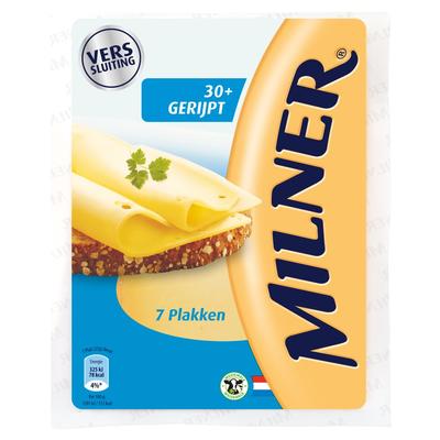 Milner Gerijpt 30+ Kaas 7 Plakken 175 g