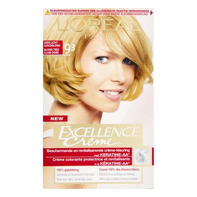 L'Oréal Excellence crème 09.3 zeer licht goudbl.
