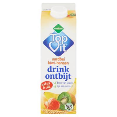 Melkan TopVit Aardbei Kiwi-Banaan Drink Ontbijt 500 ml