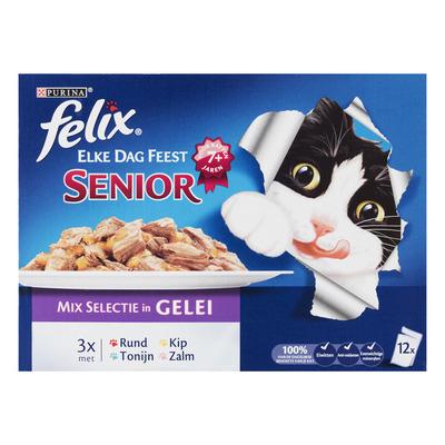 Felix Senior mix selectie in gelei in doos