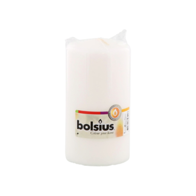 Bolsius Rustiek kaars wit 150 x 80