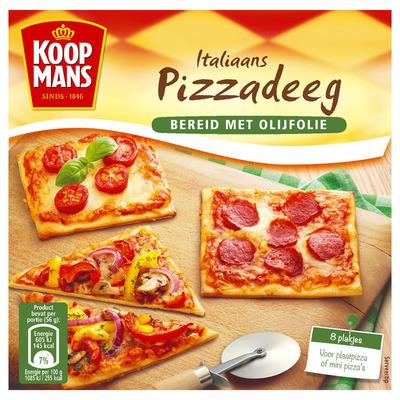 Koopmans Italiaans pizzadeeg bereid met olijfolie