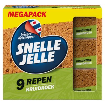 Snelle Jelle Kruidkoek Naturel Mega 9-Pack 630 g