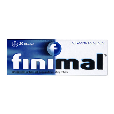 Finimal Paracetamol/coffeïne 500/50 mg