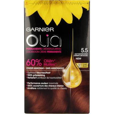Garnier Olia Permanente Kleuring 5.5 Licht Mahoniebruin