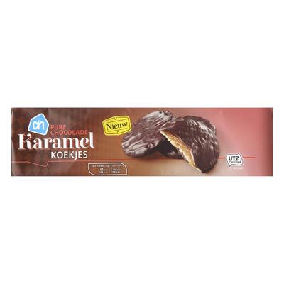 AH Karamelkoekjes pure chocolade