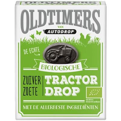 Oldtimers Biologische zuiver zoete tractor drop