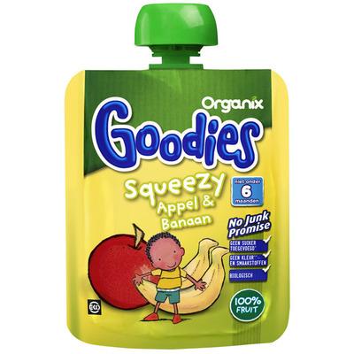 Organix Goodies Squeezy Appel & Banaan 6 mnd