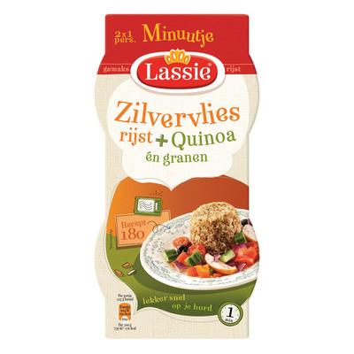 Lassie Minuutje zilvervliesrijst quinoa 4granen
