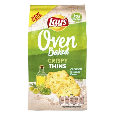 Lay's Oven crispy thins olive oil-herbs