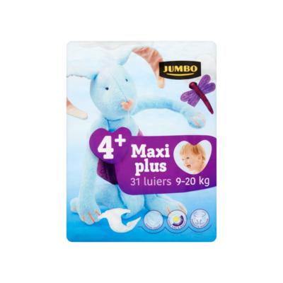 Huismerk 4+ Maxi Plus 9-20 kg 31 Luiers