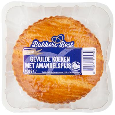 Bakkers Best Roomboter gevulde koeken met amandelspijs 4 stuks