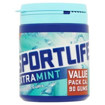 Sportlife Extramint Suikervrij Kauwgom Pot 126 g