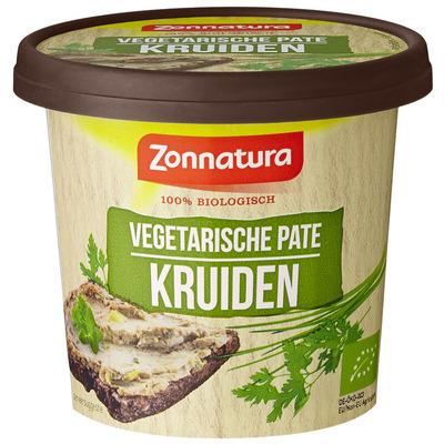 Zonnatura Vegetarisch paté kruiden 100% biologisch