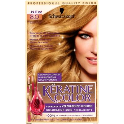 Schwarzkopf kératine color 8.0 natuurlijk blond