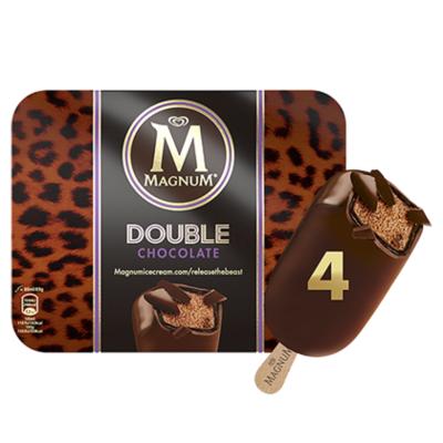 Ola Magnum ijs double chocolate 4st