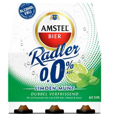 Amstel Radler limoen-munt 0.0%