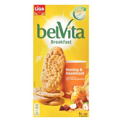 Liga Belvita biscuits honing en hazelnoot