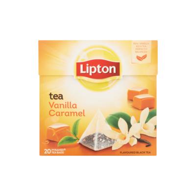 Lipton Zwarte Thee Vanille Caramel