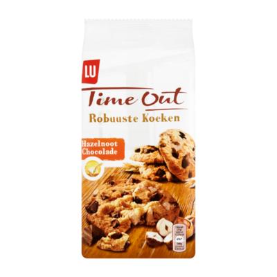 LU Time Out Robuuste Koeken Chocolade Hazelnoot 8 Biscuits