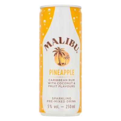Malibu Pineapple Caribbean Rum with Coconut & Fruit Flavours