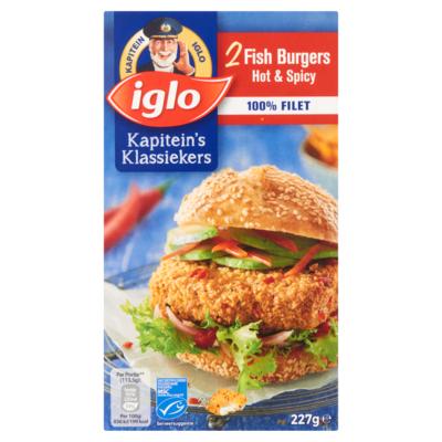 Iglo Fish Burgers Hot & Spicy 2 Stuks 227 g