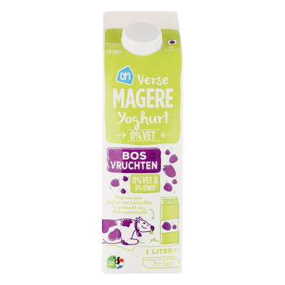 Huismerk Magere yoghurt bosvruchten
