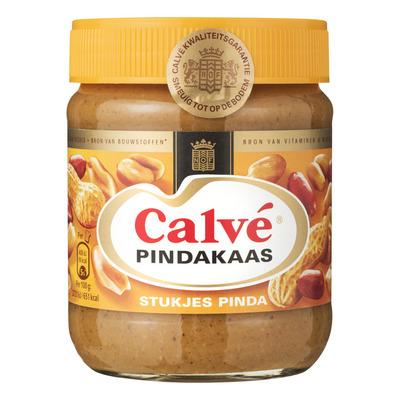 Calvé Pindakaas met stukjes pinda