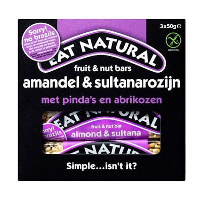 Eat Natural Fruit & noot repen amandel sultanarozijn
